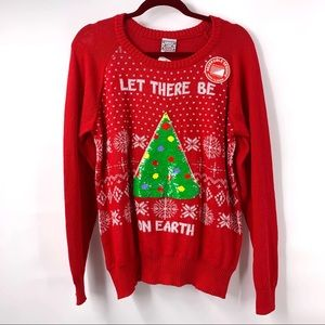 Well Worn Holiday Sweater Reversibe Sequin Tree